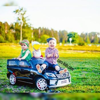 Электромобиль Mercedes-Benz ML 63 AMG белый (резиновые колеса, кожа, пульт, музыка, ГЛЯНЦЕВАЯ ПОКРАСКА)