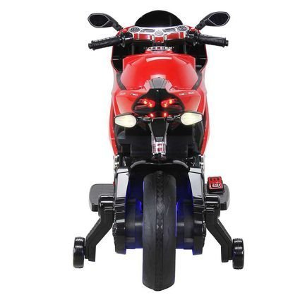 Электромотоцикл Ducati SX1628-G красный (колеса резина, сиденье кожа, музыка, страховочные колеса)