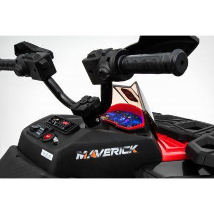 Электроквадроцикл Maverick ATV 2WD синий (колеса резина, кресло кожа, музыка)
