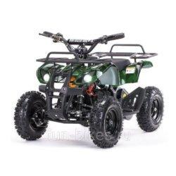Детский квадроцикл на аккумуляторе MOTAX Mini Grizlik Х-16 мощностью 1000W зеленый- камуфляж (пульт контроля, до 30 км/ч)